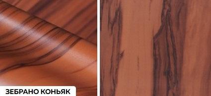 Матовые древесные премиум - зебрано коньяк