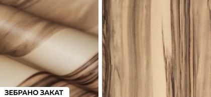 Матовые древесные премиум - зебрано закат