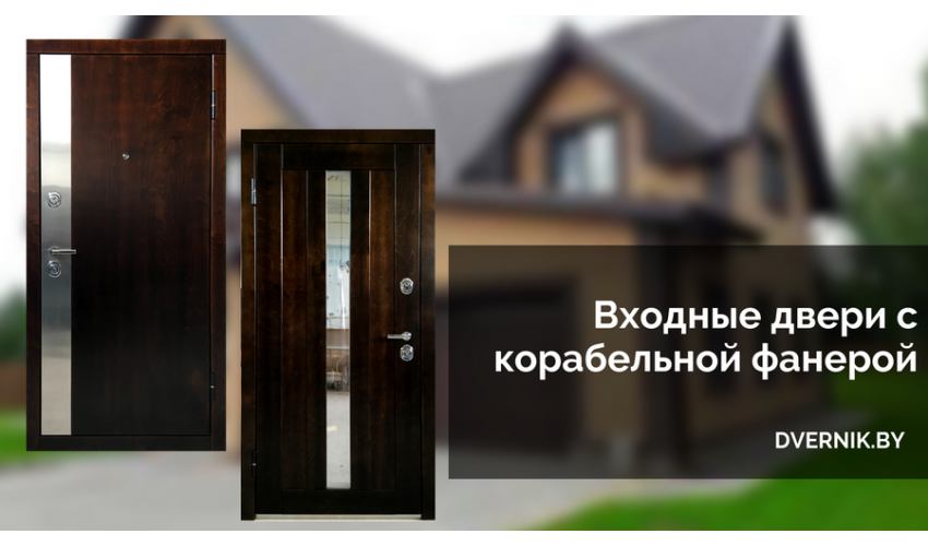 Входные двери с корабельной фанерой