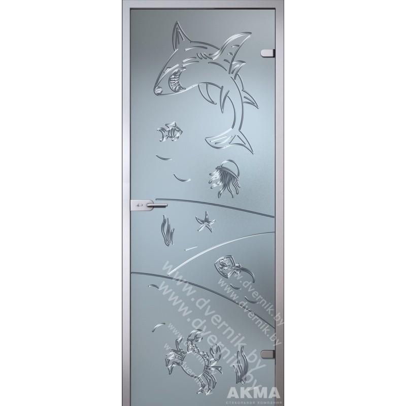 """Межкомнатная стеклянная дверь """"Море"""""""