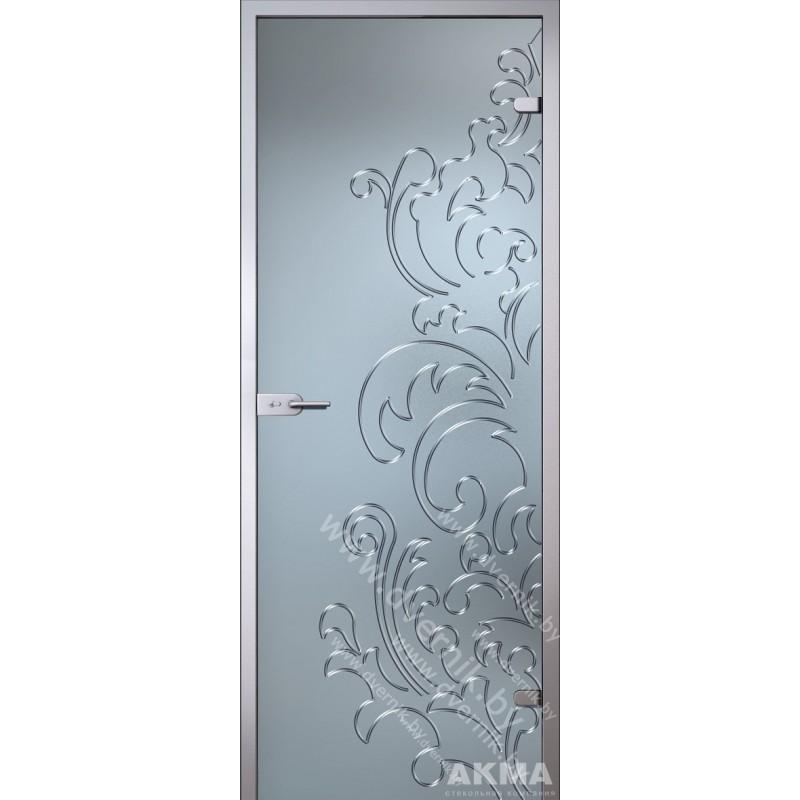 """Межкомнатная стеклянная дверь """"Лилия"""""""