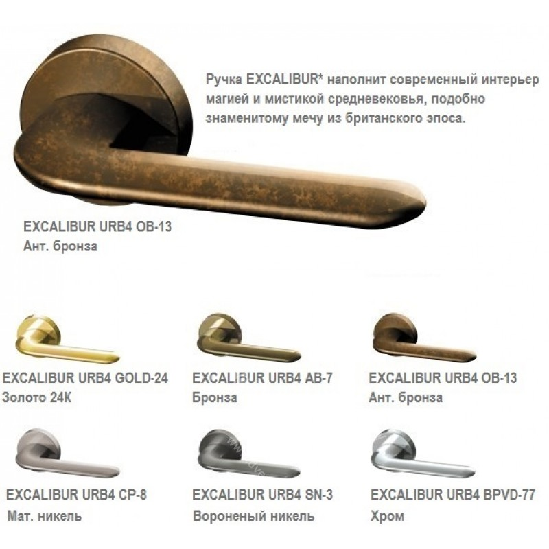Дверная ручка Armadillo Excalibur
