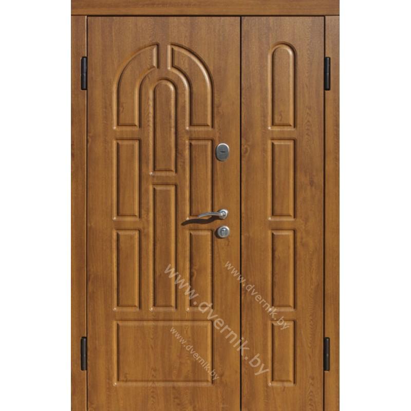 Входная двухстворчатая металлическая дверь К-28-ДВ
