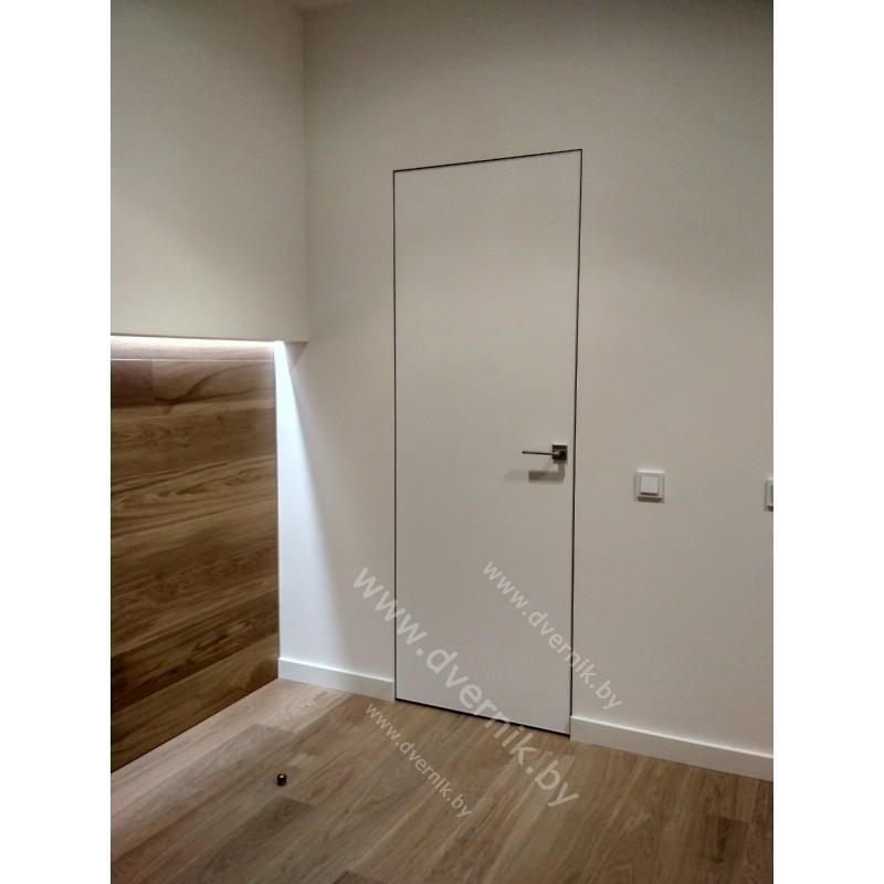 Дверь-невидимка 0Z c алюминиевой кромкой