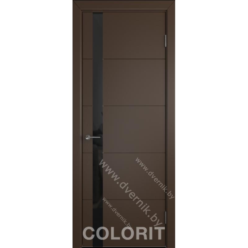 Дверь К4 COLORIT ДО коричневая