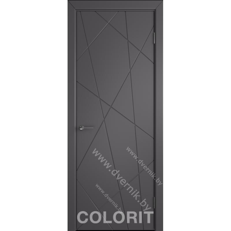 Дверь К5 COLORIT ДГ зеленая