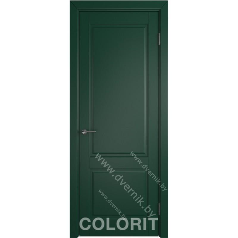 Дверь К1 COLORIT ДГ зеленая