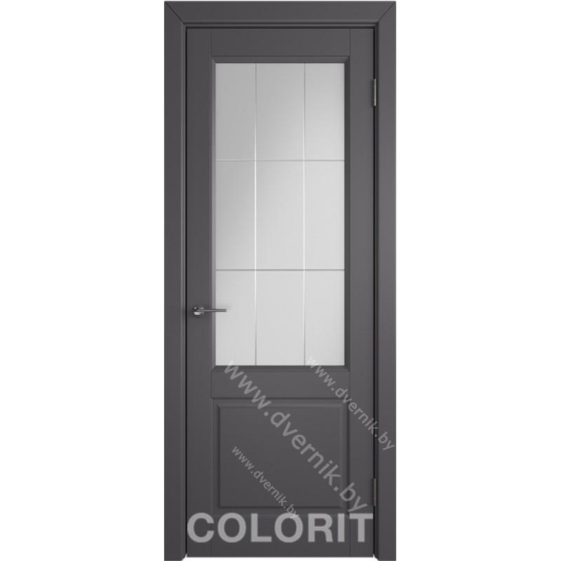 Дверь К1 COLORIT ДО черная