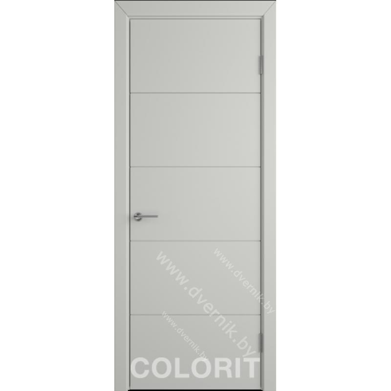 Дверь К4 COLORIT ДГ светло-серая