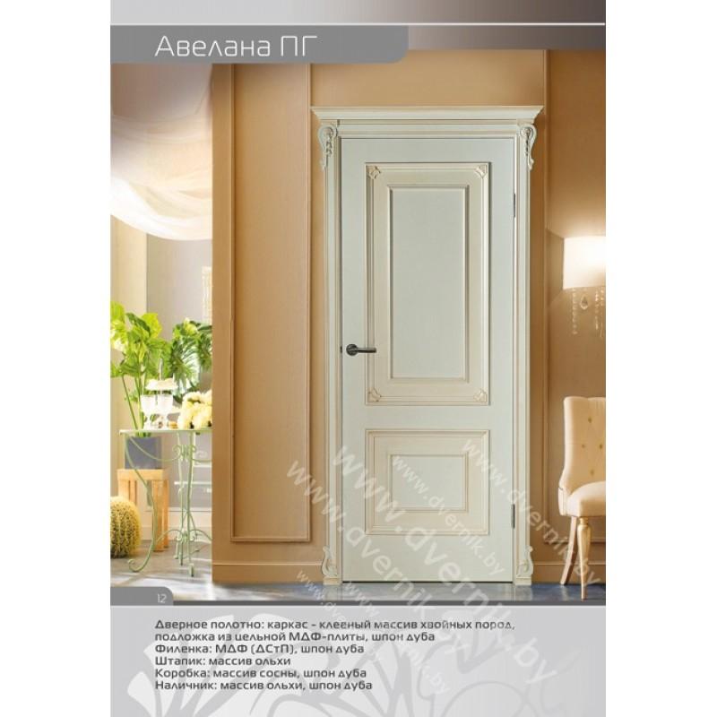 Белая межкомнатная дверь Авелана ПГ
