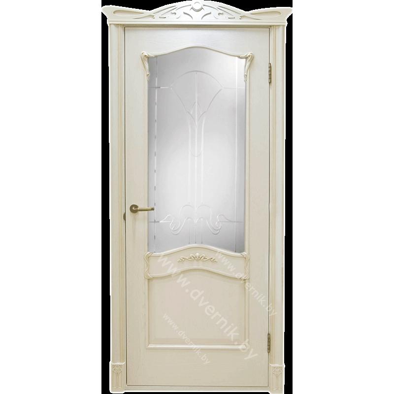 Дверь грандмодерн Янтарь белый ПО
