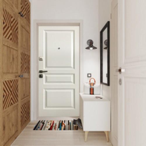 Двери с панелями из массива дуба/ясеня