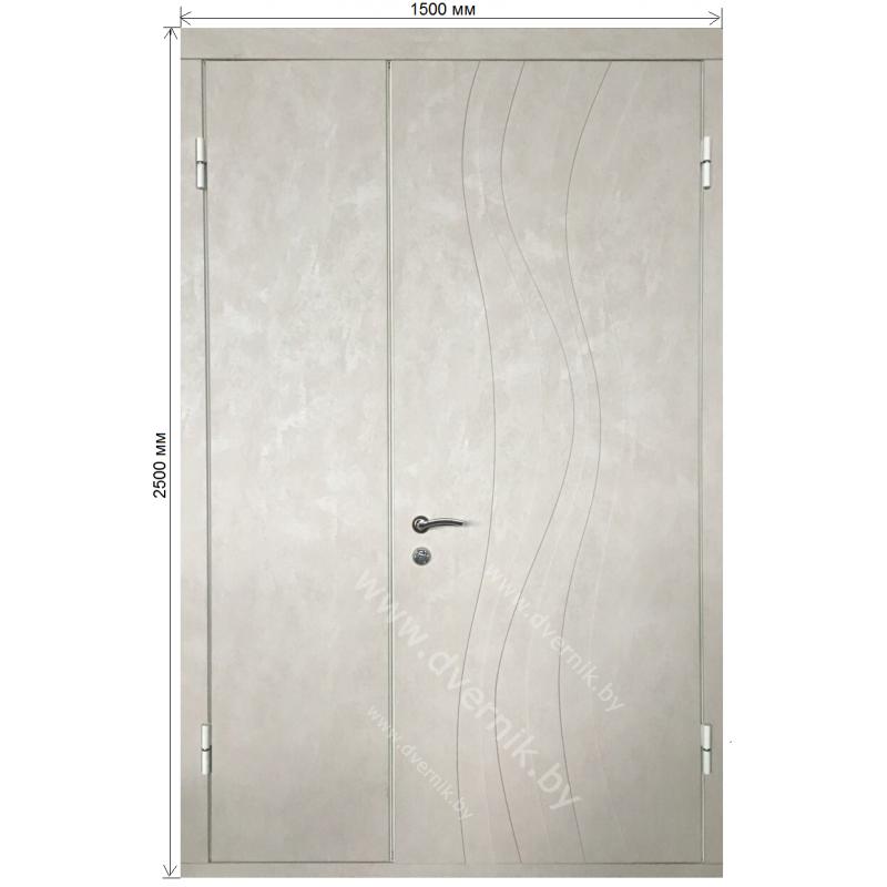 Входная двустворчатая металлическая дверь М-12-НС
