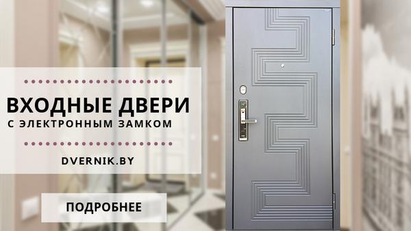 Входные двери с электронным замком заказать в Минске